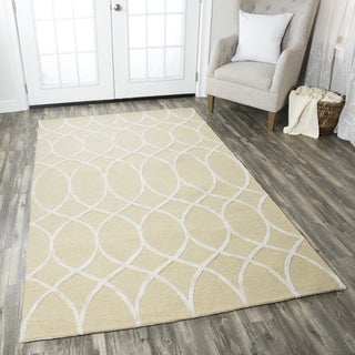 Hand-tufted Caterine Beige Wool Trellis Area Rug ( 2' x 3' )