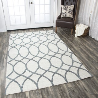 Hand-tufted Caterine Khaki Wool Area Rug ( 2' x 3' )