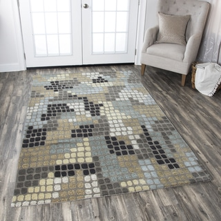 Hand-tufted Pandora Multi Wool Abstract Area Rug ( 2' x 3' )