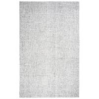 Hand-tufted Brindleton Grey Solid  Wool Area Rug  (9' x 12') - 9' x 12'