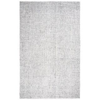 Hand-tufted Brindleton Grey Solid Wool Area Rug (9' x 12')