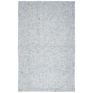 Hand-tufted London Blue Solid  Wool Area Rug  (8' x 10') - 8' x 10'