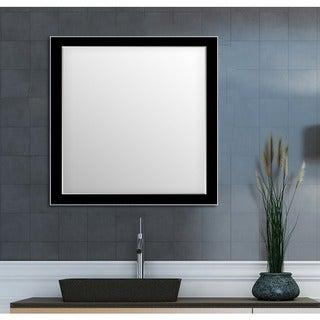 Framed Wall Mirror- Black/Silver for Bathroom or Vanity