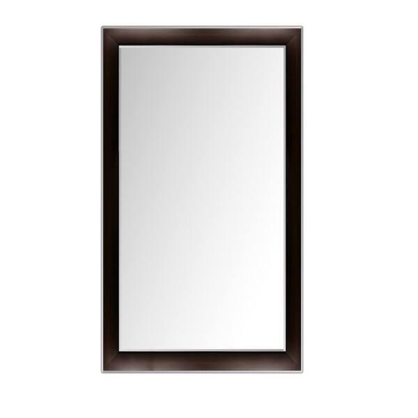 Custom Sized Framed Mirror Espresso Silver