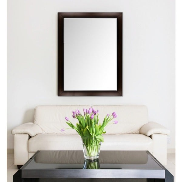 Custom Sized Framed Wall Mirror Espresso Silver For Bathroom Vanity Livingroom Free