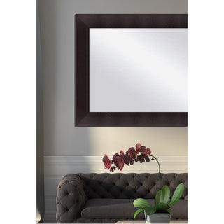 Open Grain Espresso Framed Mirror