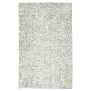 Hand-tufted London Green Solid  Wool Area Rug  (9' x 12') - 9' x 12'