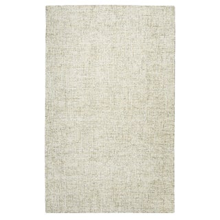 Hand-tufted London Beige Solid  Wool Area Rug  (8' x 10') - 8' x 10'