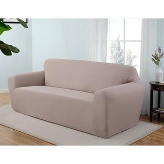 Stretch Jersey Scroll Sofa Slipcover