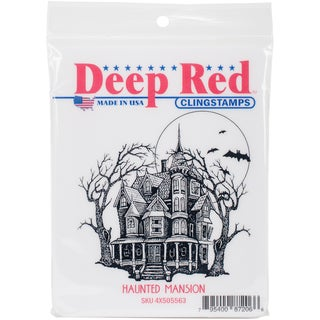 Deep Red Cling Stamp 3X3-Haunted Mansion