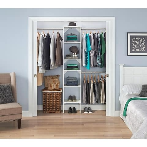 Closetmaid Suitesymphony 12 Inch Wide Closet Tower Kit