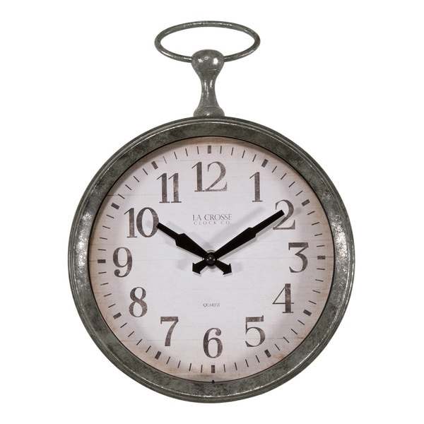 La Crosse 404 3828 9 Inch Round Pocket Watch Analog Wall Clock Free Shipping On Orders Over