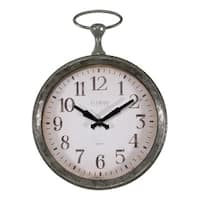 La Crosse 404-3828 9-inch Round Pocket Watch Analog Wall Clock