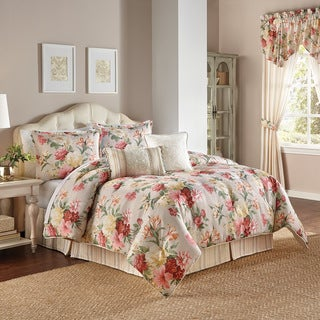 Chapel Hill by Croscill Colette Print Floral 4 Piece Comforter Set