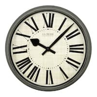 La Crosse Clock 404-3036G Weathered Pale Green 14-inch Round Analog Wall Clock