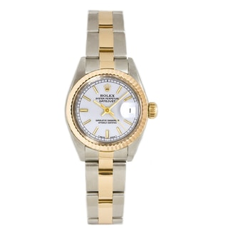 Pre-Owned Rolex Women's 26MM Datejust Stainless Steel & 18K Gold Oyster Bracelet, Gold Fluted Bezel & A White Index Dial