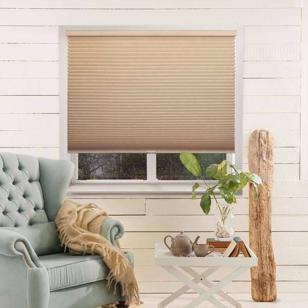 Chicology Beige Light-filtering Privacy Cordless Honeycomb Cellular Shade