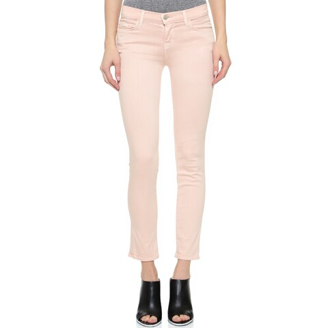 J Brand + Theory Women's Pink Mid-rise Skinny Jeans