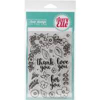 Avery Elle Clear Stamp Set 4X6-Floral Frame