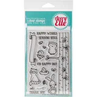 Avery Elle Clear Stamp Set 4X6-Woodland Wonders