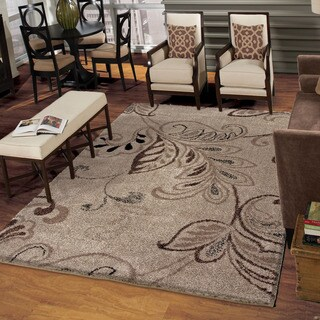 Carolina Weavers Grand Comfort Collection Oatmeal Beige Area Rug (7'10 x 10'10) (As Is Item)