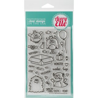 Avery Elle Clear Stamp Set 4X6-Monsters