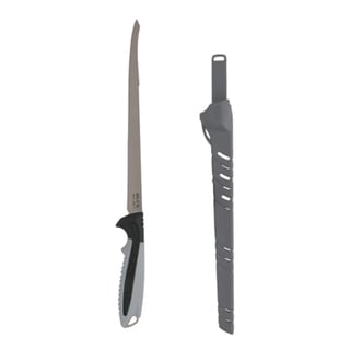 """Buck Knives Clearwater Fillet 9"""" Fixed Blade, 12C27Mod Sandvik, Gray Nylon Handle, Boxed"""