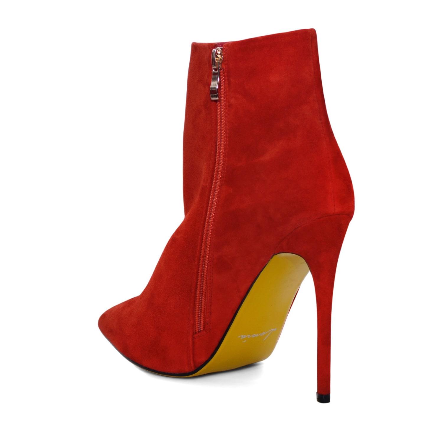 Midollo Scimmia È fortunato  Shop Lonia Merlow Burnt Orange Suede High-heel Ankle Boot - Overstock -  14413627