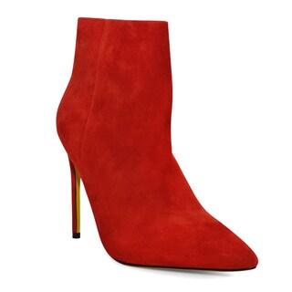 Lonia Merlow Burnt Orange Suede High-heel Ankle Boot