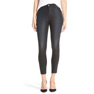 J Brand + Theory Women's Grey Coated Skinny Jeans