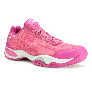 Prince T22 Lite Women's Pink/White Fabric and Synthetic Leather Tennis Shoes