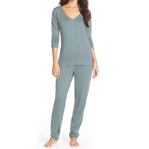 ad9866dfff938 Shop Pure Fiber Delilah Long-sleeve Loungewear Set - On Sale - Free ...