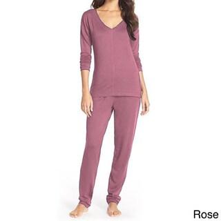 Pure Fiber Delilah Long-sleeve Loungewear Set (More options available)