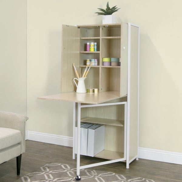 Bon Studio Designs Fold Out Craft And Sewing Machine Table Furniture Armoire