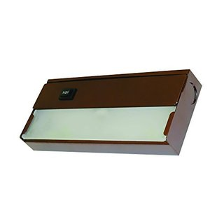 Yosemite Home Decor Bronze Finish with Frosted Glass Diffuser 1-light Under Cabinet Xenon Fixture