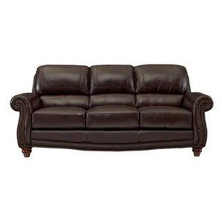 George Tobacco Leather Sofa