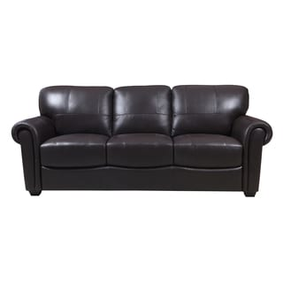 Cameron Dark Brown Leather Loveseat