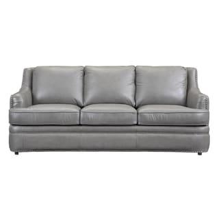 Paris Grey Leather Sofa