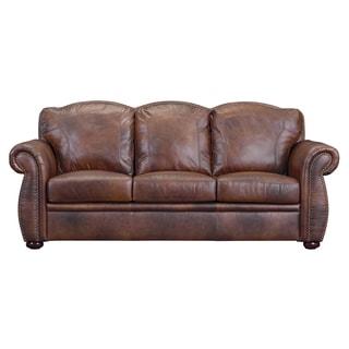 Phoenix Marco Brown Leather Sofa
