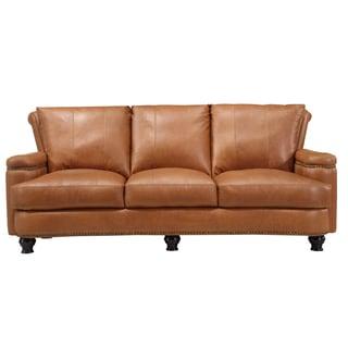 Nolan Brown Leather Sofa