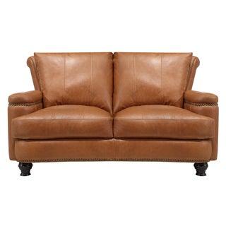 Nolan Brown Leather Loveseat