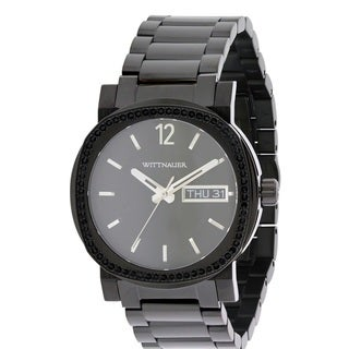 Wittnauer Black Ion Stainless Steel Chronograph Men's Watch WN3050