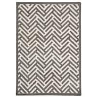 "Handmade M.A.Trading Tufted Portland Grey (8'3""x11'6"") (India)"