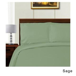 Superior 600 Thread Count Tencel Blend Wrinkle Resistant Duvet Cover Set