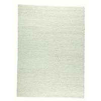 "M.A.Trading Hand Woven Ladhak White (6'6""x9'9"") (India)"