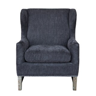 HomePop Premium Accent Chair Gray Plush