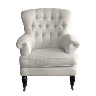 HomePop Accent Chair Tufted with Rolled Arms