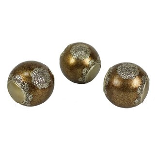 D'Lusso Designs Angelique Collection Resin 3-piece Orbs Set