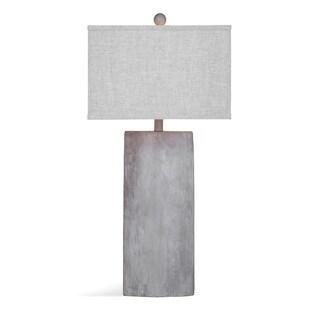 Bassett Mirror Company Jonas Grey Ceramic 32-inch Table Lamp