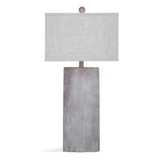 Bassett Mirror Company Jonas Grey Ceramic 32-inch Table Lamp